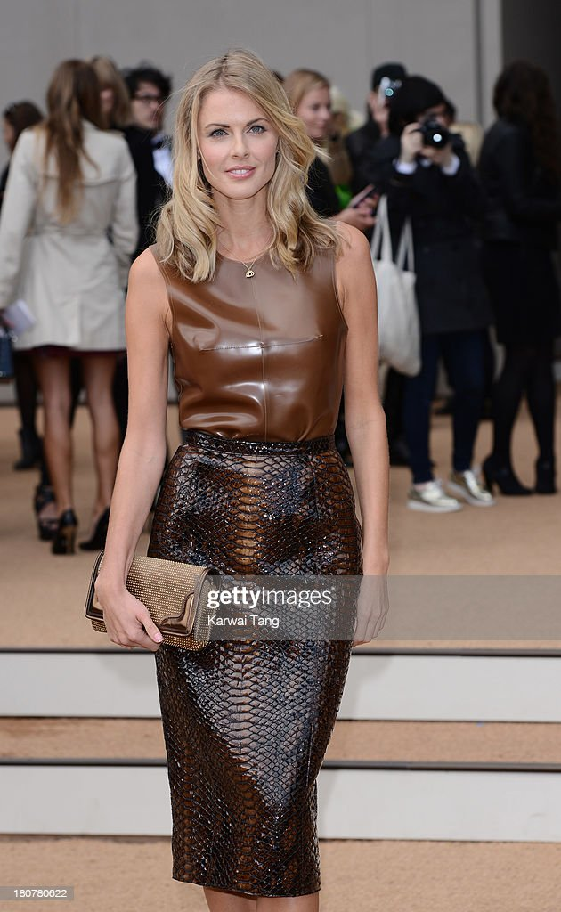 Donna Air attends the Burberry Prorsum show during London Fashion Week SS14 at Kensington Gardens on September 16, 2013 in London, England.