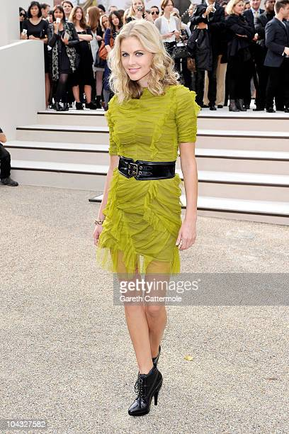 Donna Air attends the Burberry Prorsum Spring/Summer 2011 fashion show during LFW at Chelsea College of Art and Design on September 21 2010 in London...