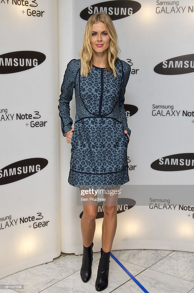 Donna Air attends the launch of Samsung's Galaxy Gear and Galaxy Note 3 at ME Hotel on September 24 2013 in London England