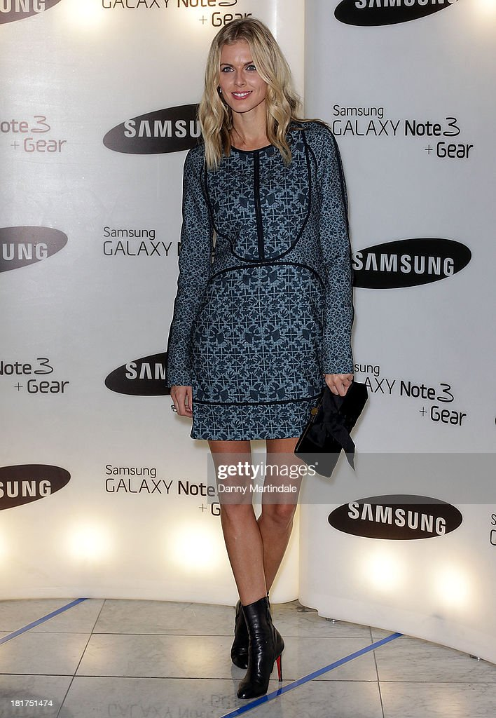 <a gi-track='captionPersonalityLinkClicked' href=/galleries/search?phrase=Donna+Air&family=editorial&specificpeople=209184 ng-click='$event.stopPropagation()'>Donna Air</a> attends the launch of Samsung's Galaxy Gear and Galaxy Note 3 at ME Hotel on September 24, 2013 in London, England.