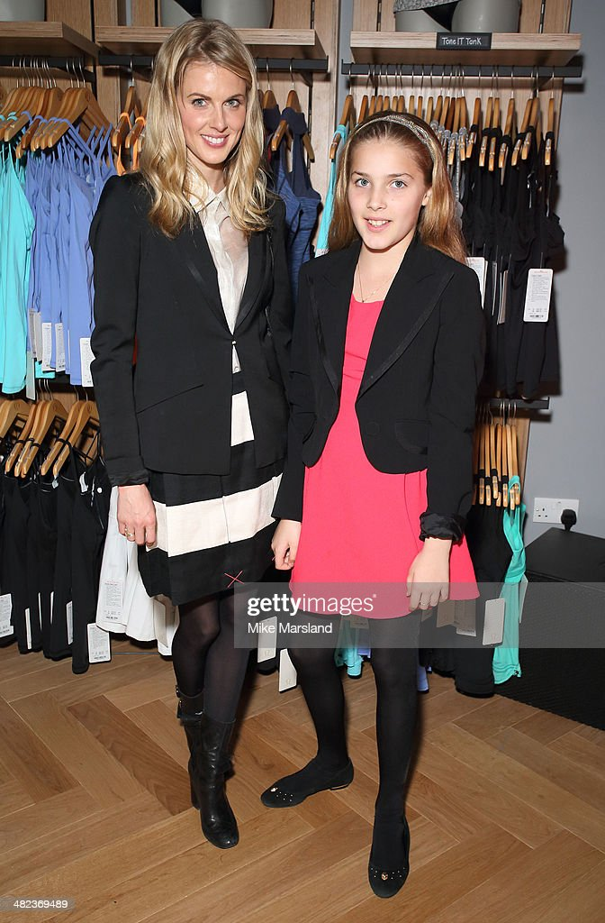 Donna Air attends the Lululemon launch party to celebrate there first store in UK on April 3, 2014 in London, England.