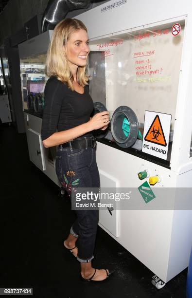 Donna Air attends the official launch of Dinosaurs in the Wild a new immersive experience at NEC Arena on June 20 2017 in Birmingham England