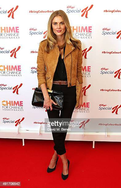 Donna Air attends the Special K Bring Colour Back launch at The Hospital Club on October 7 2015 in London England