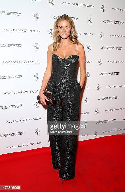 Donna Air attends the UK launch event for the newest addition to Ferrari the 488 GTB at the Old Sorting Office on April 23 2015 in London England