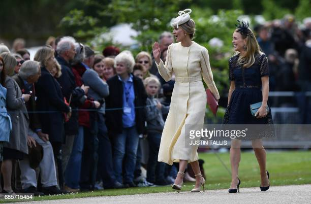 Donna Air attends the wedding of Pippa Middleton and James Matthews at St Mark's Church in Englefield west of London on May 20 2017 Pippa Middleton...
