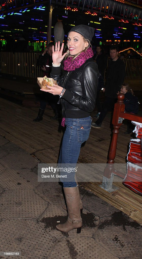 Donna Air attends the Winter Wonderland - Launch Party in Hyde Park on November 22, 2012 in London. England.