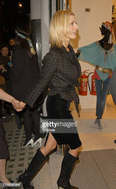 Donna Air during HM Knightsbridge Store Launch Arrivals at HM Brompton Road in London Great Britain