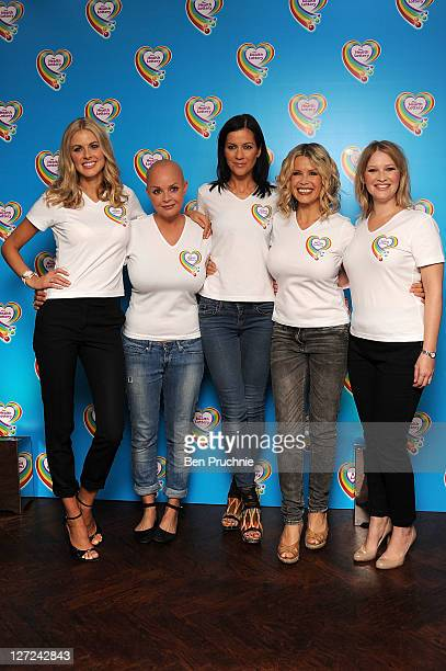 Donna Air Gail Porter Kate Lawler Melinda Messenger and Joanna Page attends the launch of the Health Lottery at The Hospital Club on September 27...
