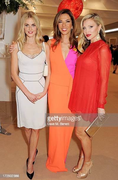 Donna Air Heather Kerzner and Caprice Bourret attend The Masterpiece Midsummer Party in aid of Marie Curie Cancer Care hosted by Heather Kerzner at...