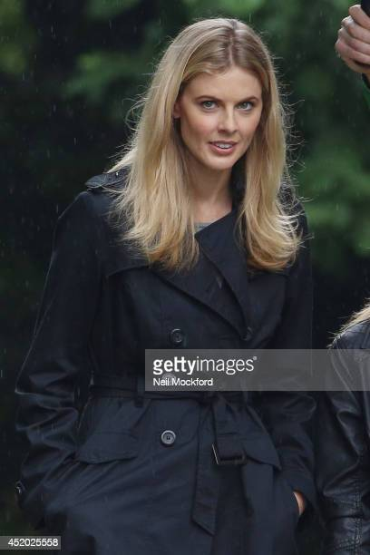 Donna Air is spotted on the set of her new film 'Age Of Kill' on July 11 2014 in London England