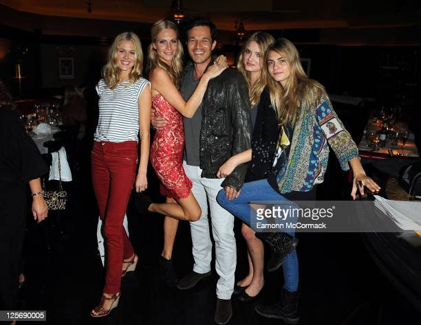 Donna Air Poppy Delevingne Paul Sculfor Lily Donaldson and Cara Delevingne attend Storm model agency's London Fashion Week S/S 2012 party at Markham...