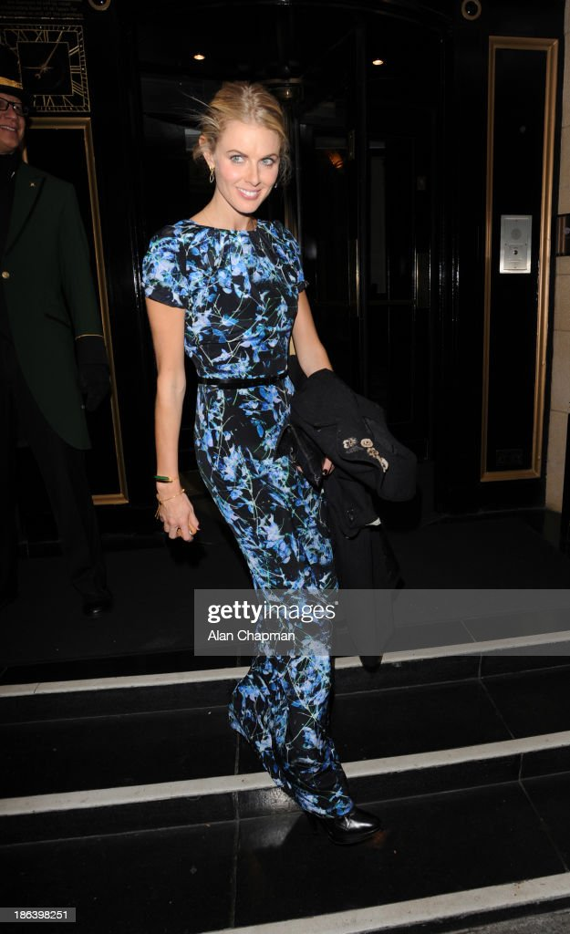 <a gi-track='captionPersonalityLinkClicked' href=/galleries/search?phrase=Donna+Air&family=editorial&specificpeople=209184 ng-click='$event.stopPropagation()'>Donna Air</a> sighting at The Dorchester Hotel on October 30, 2013 in London, England.