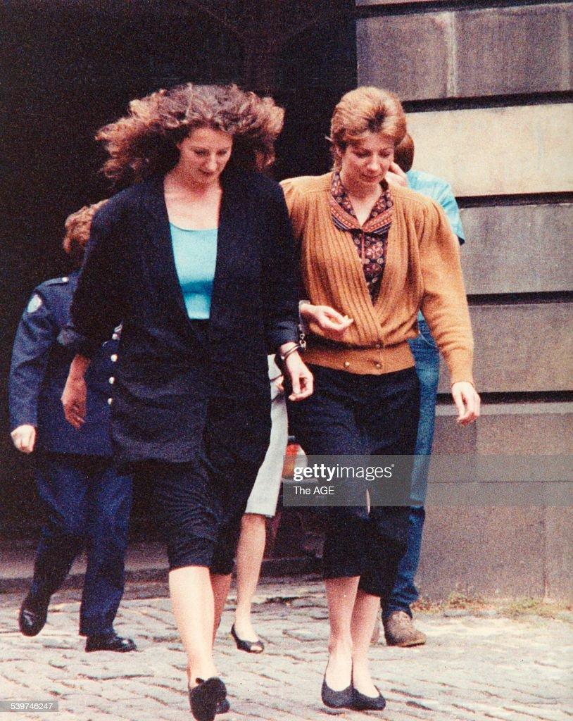 Donna and Karen Randall who were each jailed for 14 years for the murder of Karen's former boyfriend Paul Joseph Snabel on 5 November 1989 outside...