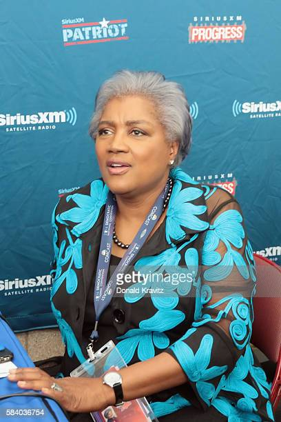 Donna Brazile during interview on SiriusXM on July 27 2016 in Philadelphia Pennsylvania