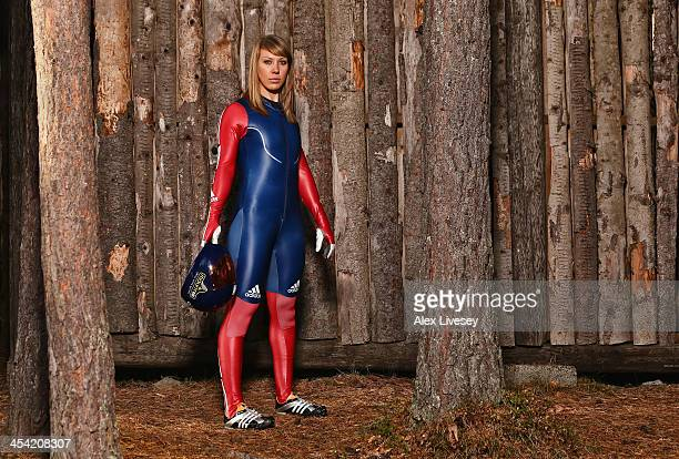 Donna Creighton of the Team GB Skeleton Team poses for a portrait on October 15 2013 in Lillehammer Norway