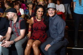 Donna D'Cruz and Phillip Bloch attend the Desigual Spring 2014 fashion show during MercedesBenz Fashion Week at The Theatre at Lincoln Center on...