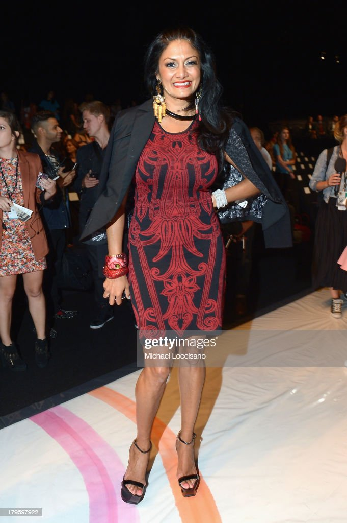 DJ Donna D'Cruz attends the Desigual Spring 2014 fashion show during Mercedes-Benz Fashion Week at The Theatre at Lincoln Center on September 5, 2013 in New York City.