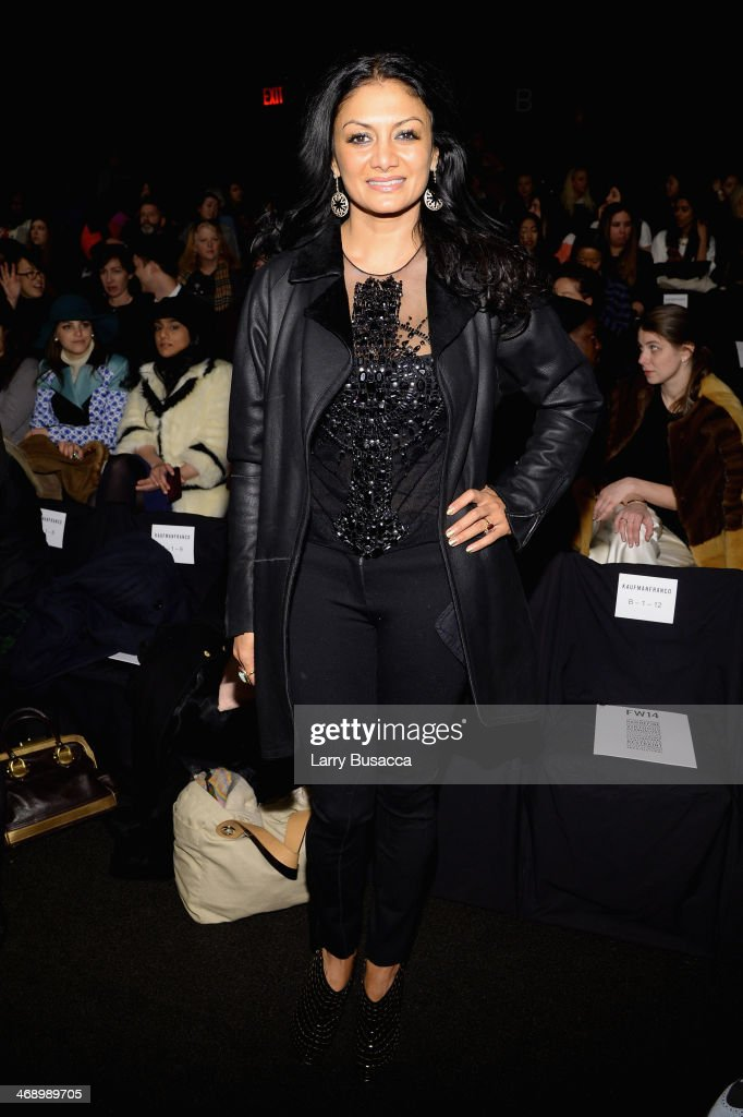 Donna D'Cruz attends the Kaufmanfranco fashion show during Mercedes-Benz Fashion Week Fall 2014 at The Theatre at Lincoln Center on February 12, 2014 in New York City.