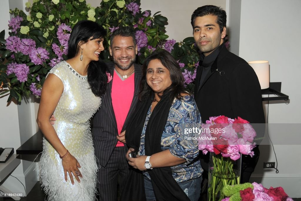 Donna D'Cruz, Carlos Mota, Kaajal Anand and Karan Johar attend(s) THE MERCER Hosts Party to Celebrate CARLOS MOTA's New Book 'FLOWERS: Chic & Cheap' at The Mercer on May 11th, 2010 in New York City.