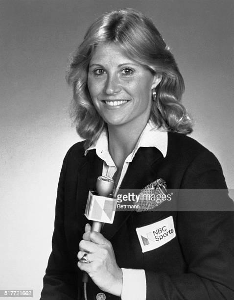 Donna De Varona Holding Microphone Donna De Varona Olympic Swimmer NBC commentator