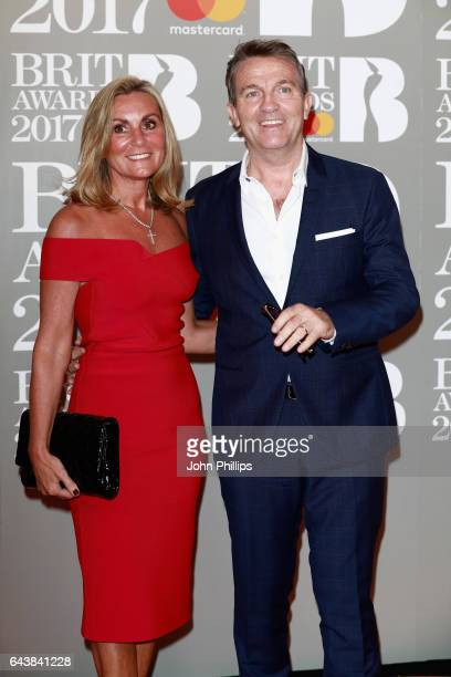 Donna Derby and Bradley Walsh attend The BRIT Awards 2017 at The O2 Arena on February 22 2017 in London England