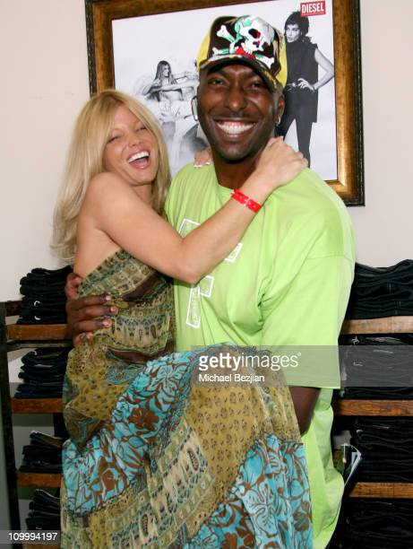 Donna D'Errico and John Salley at Diesel during Primary Action's and Adwil Agency's Emmy Suite Day 1 at Liberace Penthouse in Beverly Hills...