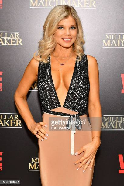 Donna D'Errico attends WE tv's Exclusive Premiere of Million Dollar Matchmaker Season 2 at the Whitby Hotel on August 2 2017 in New York City