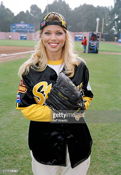 Donna D'Errico during 1998 MTV Rock n' Jock Baseball in Los Angeles California United States