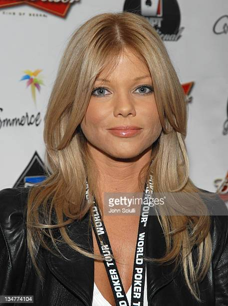 Donna D'Errico during 2007 World Poker Tour Celebrity Invitational Red Carpet at Commerce Casino in Commerce California United States