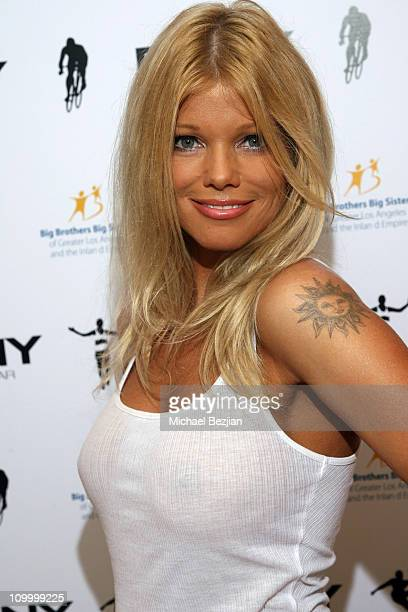 Donna D'Errico during DKNY Men's Underwear Celebrity Field Day at Skysport Spa in Beverly Hills California United States