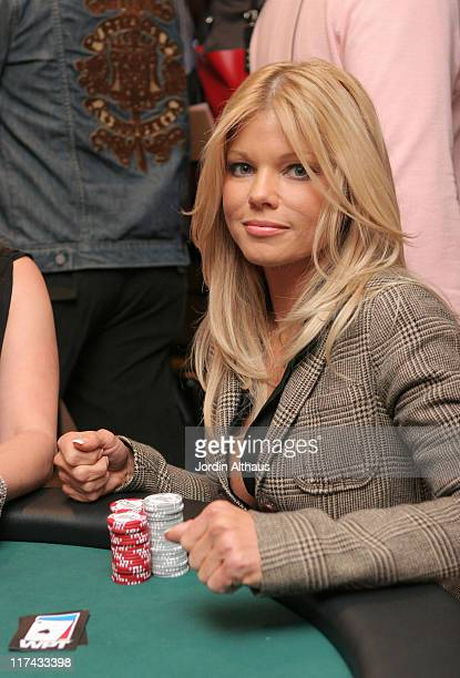Donna D'Errico during Haven Celebrity Poker Chic and W Party February 23 2007 at Private Residence in Beverly Hills California United States