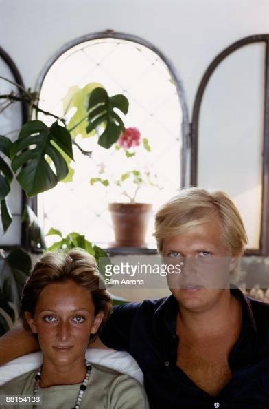 Donna Desideria Corsini with Count Ottavio Serena di Lapigio in Porto Ercole Tuscany August 1973 He is the son of Princess Giovanna Borghese and...