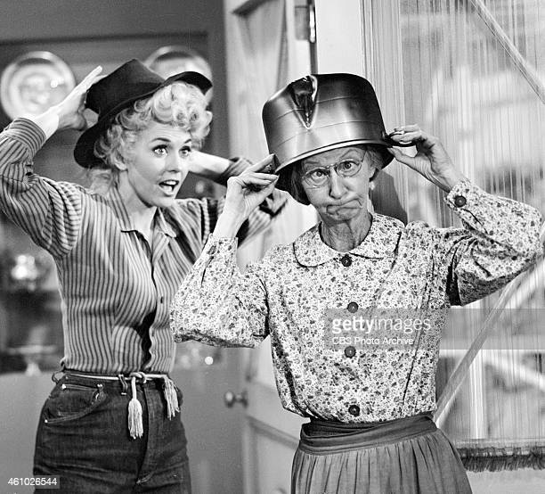 HILLBILLIES Donna Douglas as Elly May left and Irene Ryan as Granny episode 'Jed Foils A Home Wrecker' Dated April 29 1964
