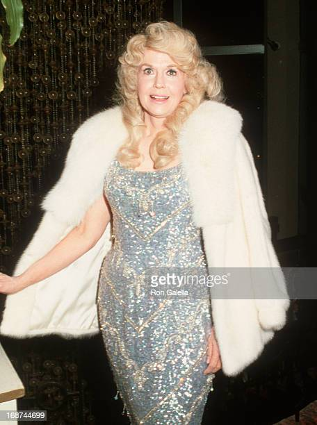 Donna Douglas attends International Angel Awards on February 20 1986 at the Ambassador Hotel in Los Angeles California