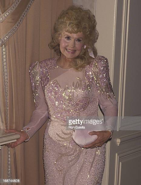 Donna Douglas attends the party for Buddy Ebsen on March 20 1992 at the Beverly Wilshire Hotel in Beverly Hills California