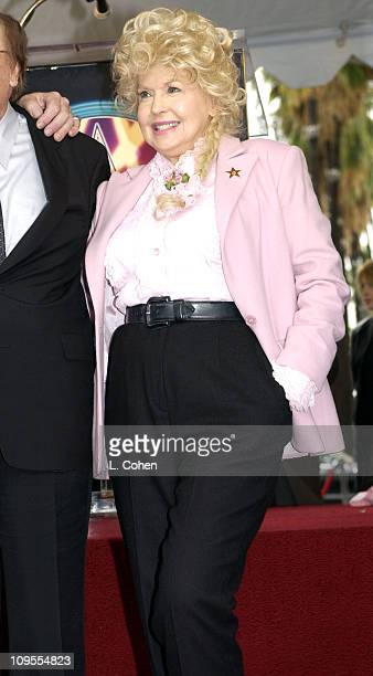 Donna Douglas during Earl Scruggs Honored with a Star on the Hollywood Walk of Fame for His Achievements in Music at Hollywood Boulevard in Hollywood...