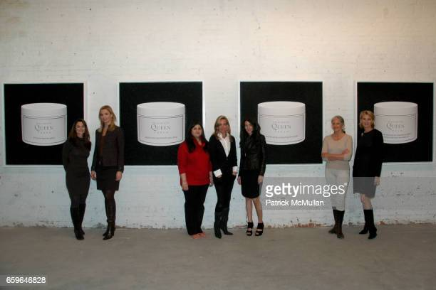 Donna Fish Laurie Dhue Sharmeen Gangat Rachel Hovnanian Amanda Ross Cindy Joseph and Dr Olivia Flatto attend POWER AND BURDEN OF BEAUTY By RACHEL...