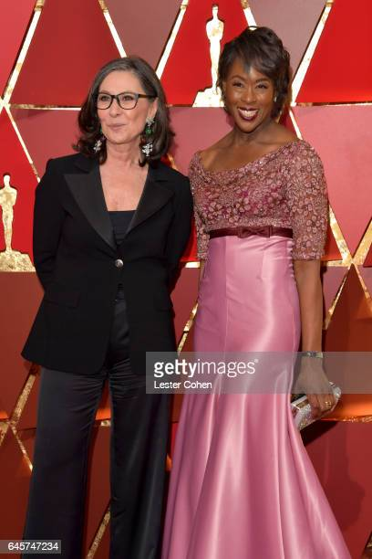 Donna Gigliotti and Margot Lee Shetterly attend the 89th Annual Academy Awards at Hollywood Highland Center on February 26 2017 in Hollywood...