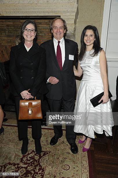 Donna Gigliotti Clif Knight and Sarah Vacchiano attend The Players Hosts Producers Guild at The Players on January 19 2017 in New York City