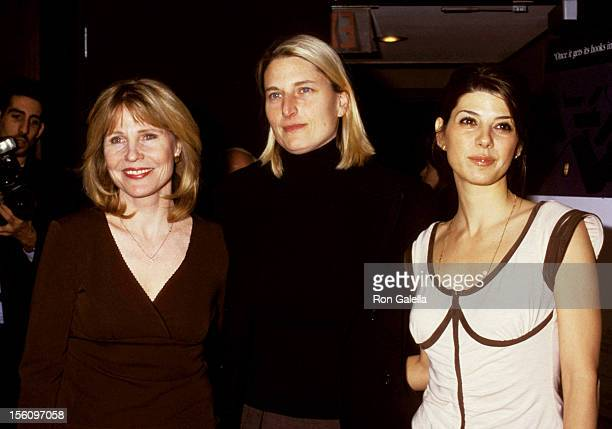 Donna Hanover Jennifer Estes and Marisa Tomei during 'In the Bedroom' Honors Marisa Tomei for Her Support of Project ALS in New York City New York...