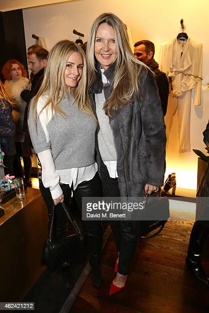 Donna Ida and Amanda Wakeley attend the launch of the Paul Andrew popup at the Donna Karan New York Store hosted by Paul Andrew and Caroline Issa on...