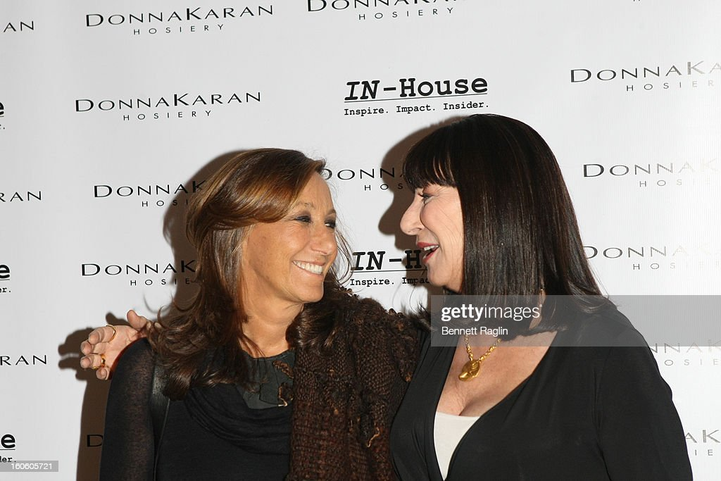 <a gi-track='captionPersonalityLinkClicked' href=/galleries/search?phrase=Donna+Karan+-+Fashion+Designer&family=editorial&specificpeople=4206478 ng-click='$event.stopPropagation()'>Donna Karan</a> and Angelica Huston attend 'Haven't We Met Before?' New York Premiere at 711 Greenwich Street on February 3, 2013 in New York City.