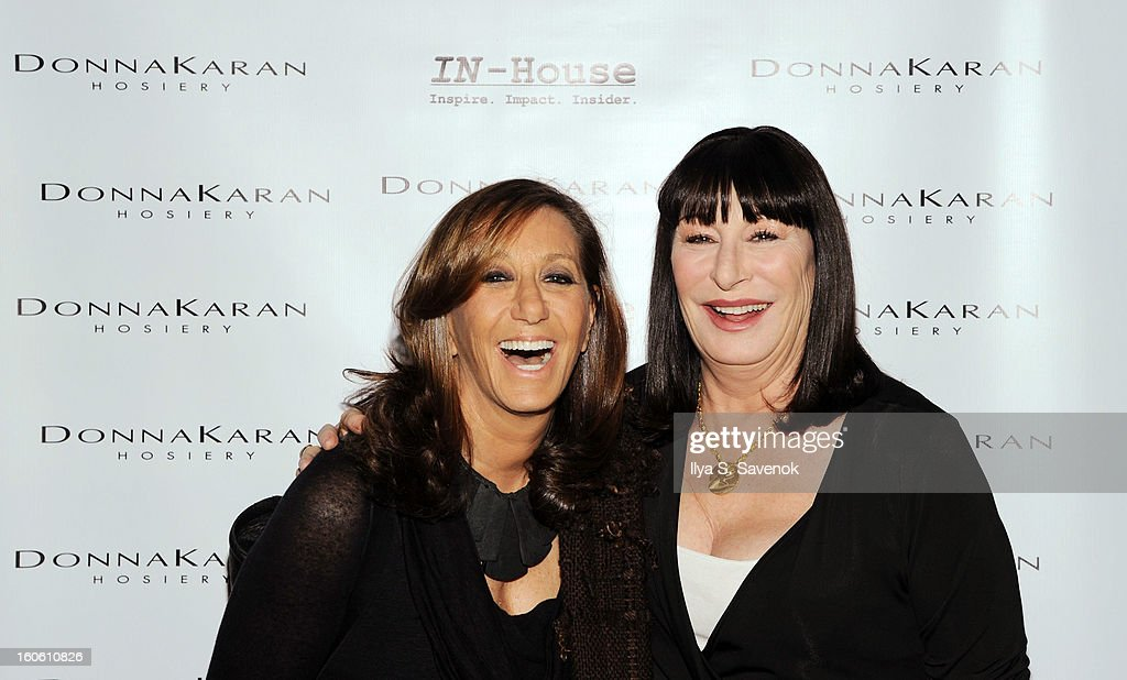 <a gi-track='captionPersonalityLinkClicked' href=/galleries/search?phrase=Donna+Karan+-+Fashion+Designer&family=editorial&specificpeople=4206478 ng-click='$event.stopPropagation()'>Donna Karan</a> and <a gi-track='captionPersonalityLinkClicked' href=/galleries/search?phrase=Anjelica+Huston&family=editorial&specificpeople=202921 ng-click='$event.stopPropagation()'>Anjelica Huston</a> attend 'Haven't We Met Before?' New York Premiere at 711 Greenwich Street on February 3, 2013 in New York City.