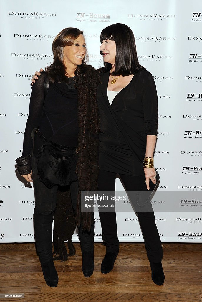 Donna Karan and Anjelica Huston attend 'Haven't We Met Before?' New York Premiere at 711 Greenwich Street on February 3, 2013 in New York City.