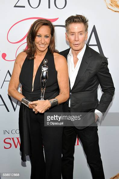 Donna Karan and Calvin Klein attend the 2016 CFDA Fashion Awards at the Hammerstein Ballroom on June 6 2016 in New York City