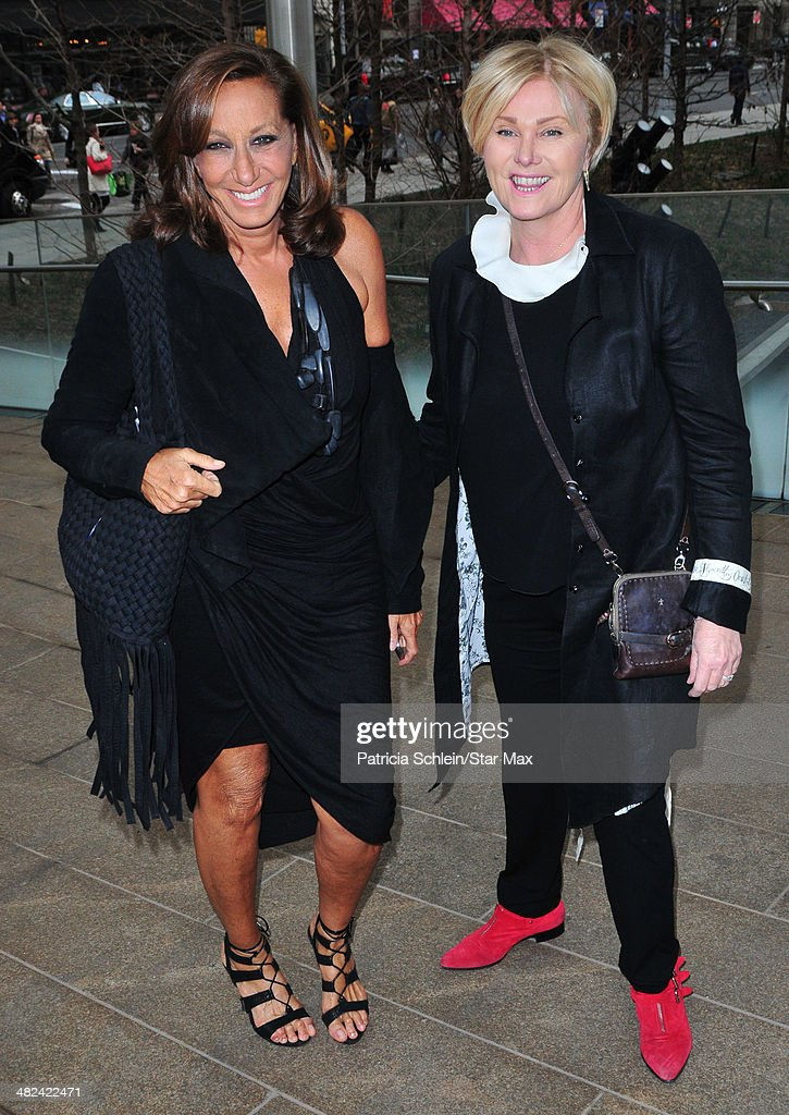Donna Karan and <a gi-track='captionPersonalityLinkClicked' href=/galleries/search?phrase=Deborra-Lee+Furness&family=editorial&specificpeople=542814 ng-click='$event.stopPropagation()'>Deborra-Lee Furness</a> are seen on April 3, 2014 in New York City.