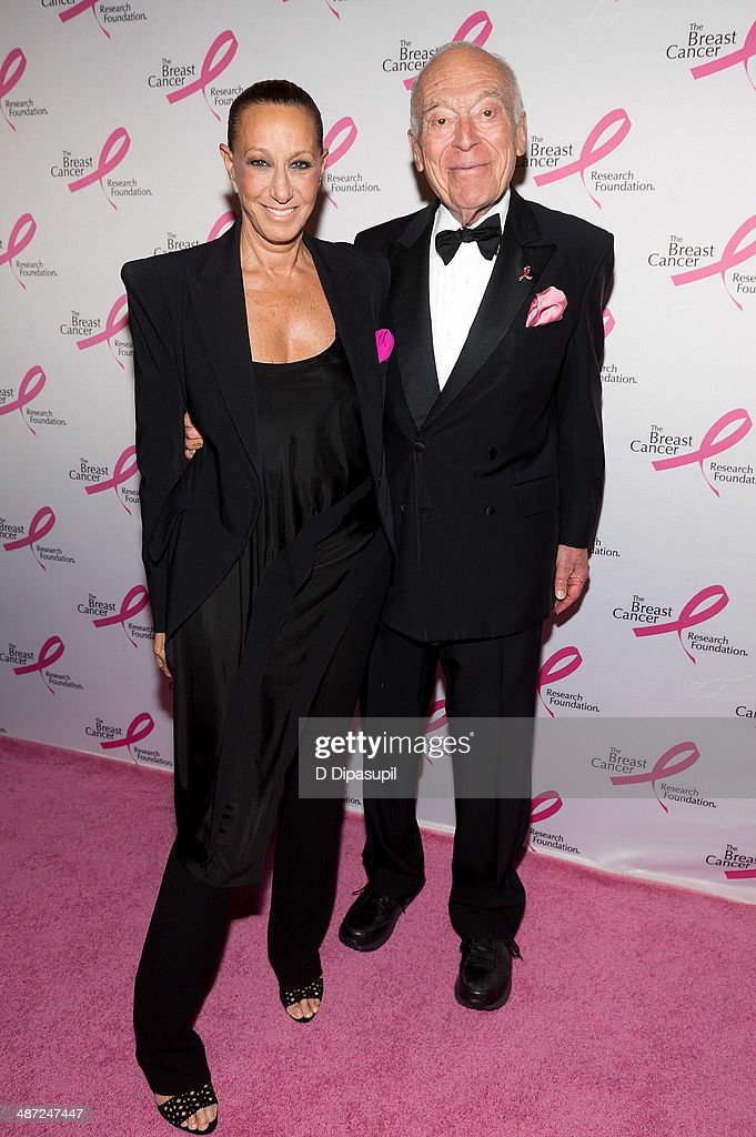 Donna Karan (L) and Leonard A. Lauder attend The Breast Cancer Research Foundation 2014 Hot Pink Party at The Waldorf=Astoria on April 28, 2014 in New York City.