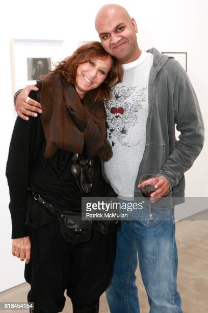 Donna Karan and Pankaj Shah attend Reception For PATTI SMITH And STEVEN SEBRING TONIC Board of Creators at Robert Miller Gallery on January 12 2010...