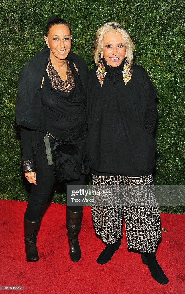 Donna Karan (L) and <a gi-track='captionPersonalityLinkClicked' href=/galleries/search?phrase=Sheila+Nevins&family=editorial&specificpeople=584103 ng-click='$event.stopPropagation()'>Sheila Nevins</a> attend HBO's In Vogue: The Editor's Eye screening at Metropolitan Museum of Art on December 4, 2012 in New York City.