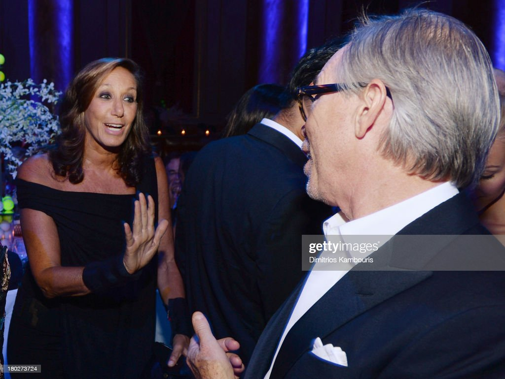 Donna Karan and Tommy Hilfiger attend the Novak Djokovic Foundation New York dinner at Capitale on September 10, 2013 in New York City.